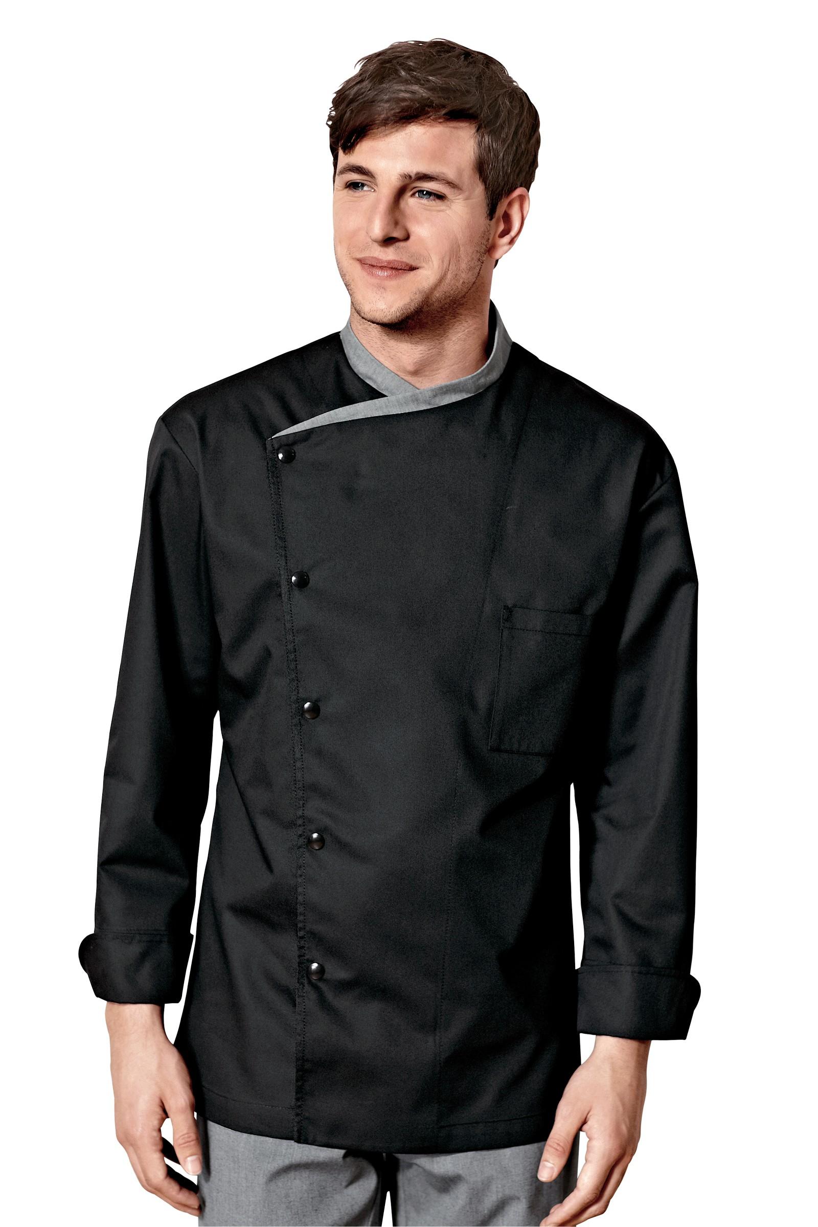 Chaquetillas de cocina juliuso negro - Chaquetillas de cocina ...