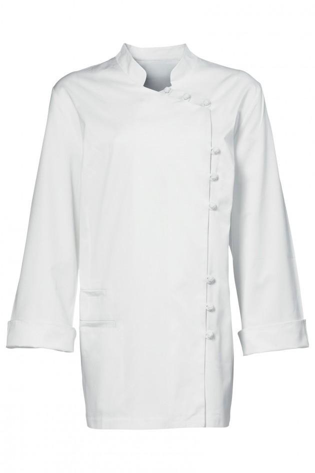 VESTE DE CUISINE DORIANE BLANCHE - Broderie veste de cuisine
