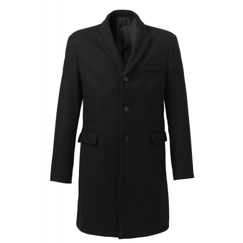 manteau 3 4 homme arlington double noir. Black Bedroom Furniture Sets. Home Design Ideas
