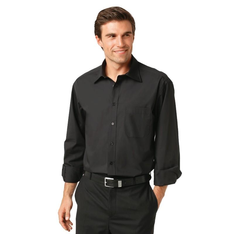 siero chemise homme noir m lg long 80. Black Bedroom Furniture Sets. Home Design Ideas