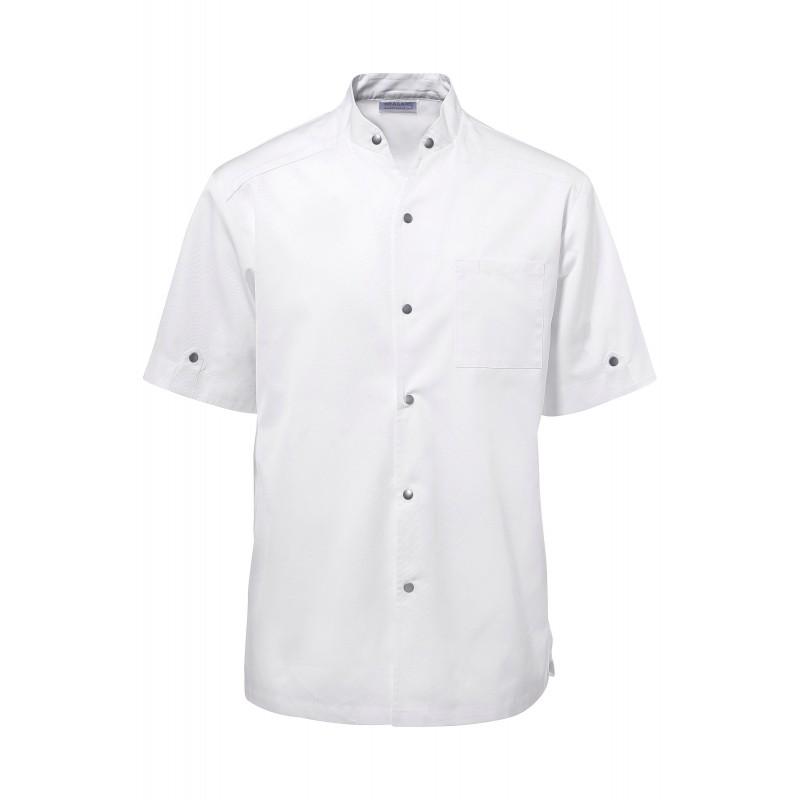 Veste de cuisine escure blanche manche courte for Veste de cuisine manche courte