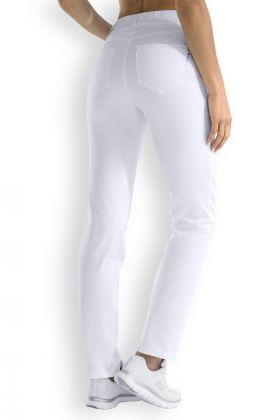 Pantalon femme blanc coupe droite