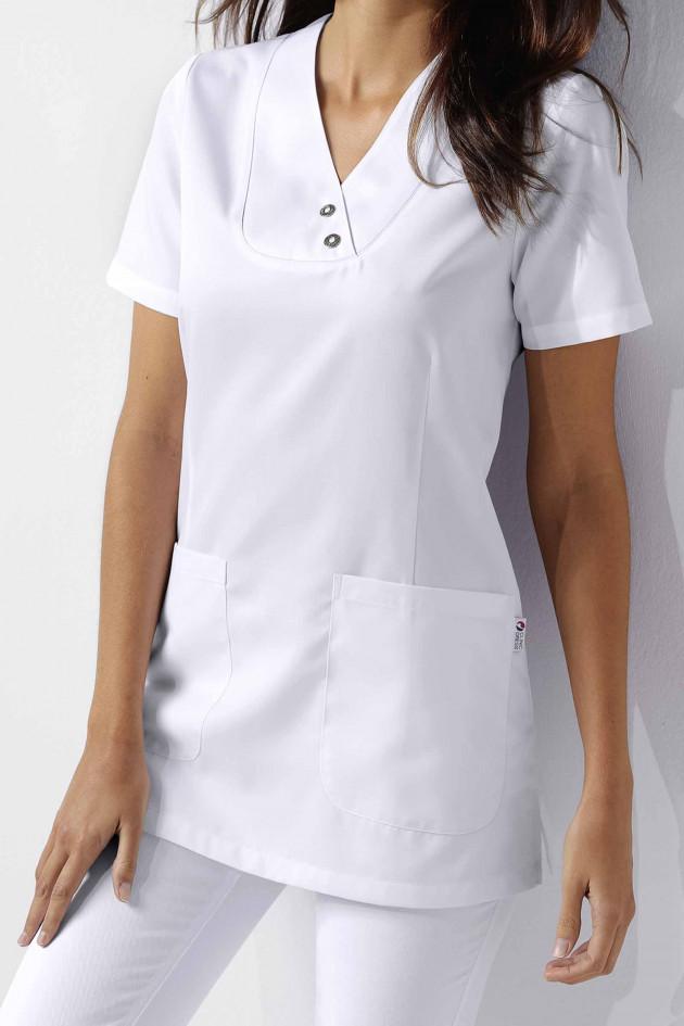 Tunique médicale femme manches courtes