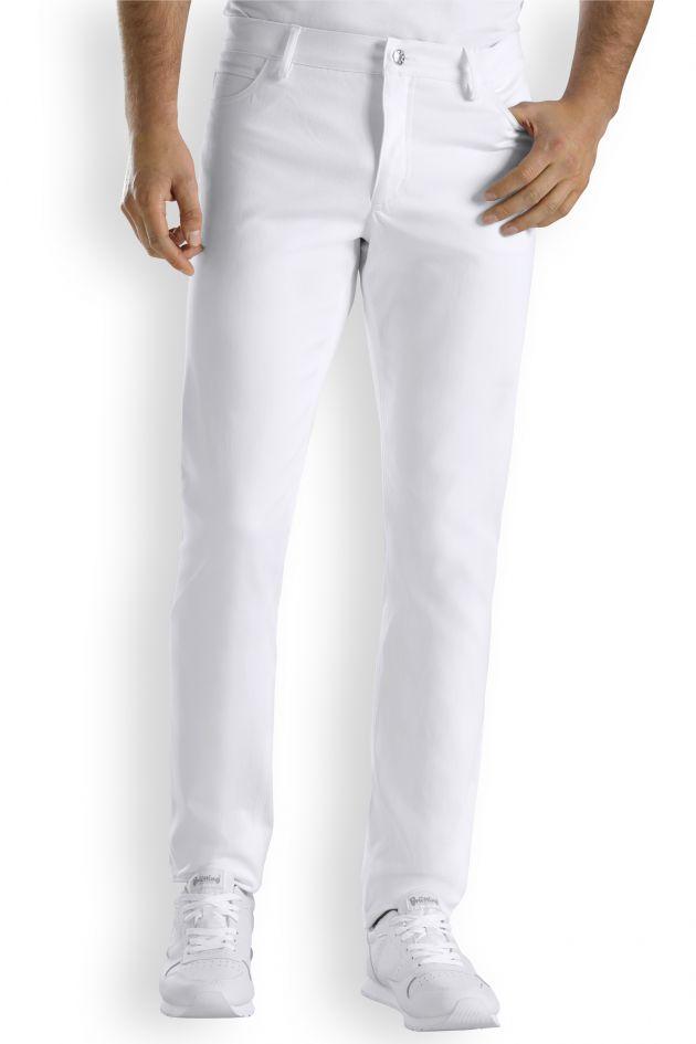 Pantalon slim homme blanc