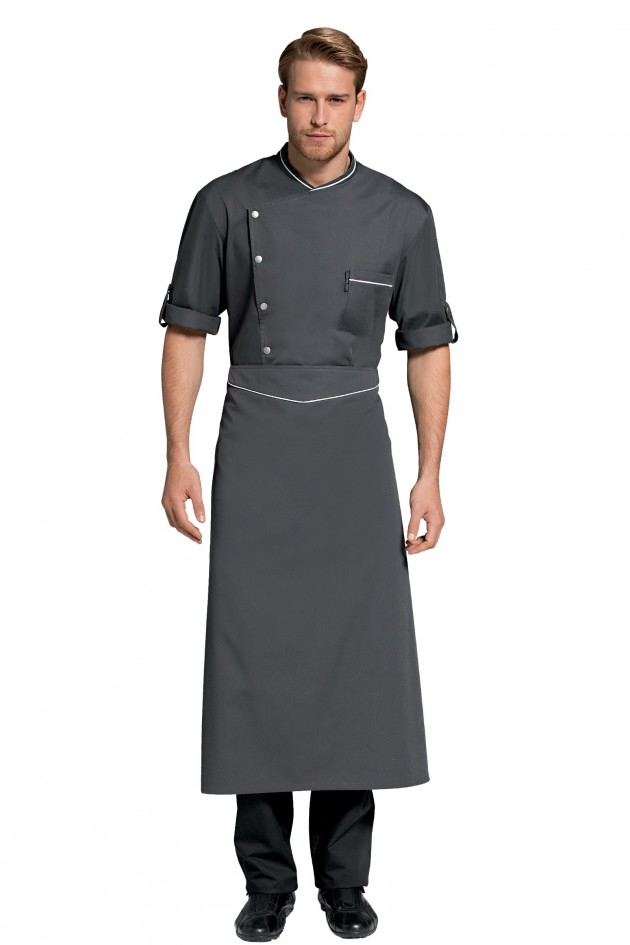 Omera tablier anthracite for Tablier de cuisine homme