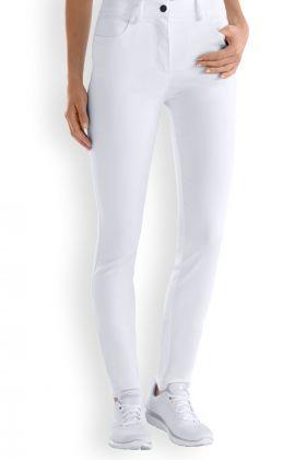 Pantaloni slim donna bianchi