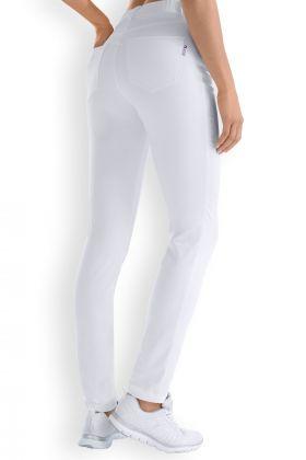 Pantalon slim femme blanc