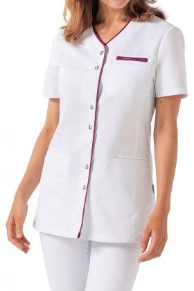 Blusa blanca ribete de color