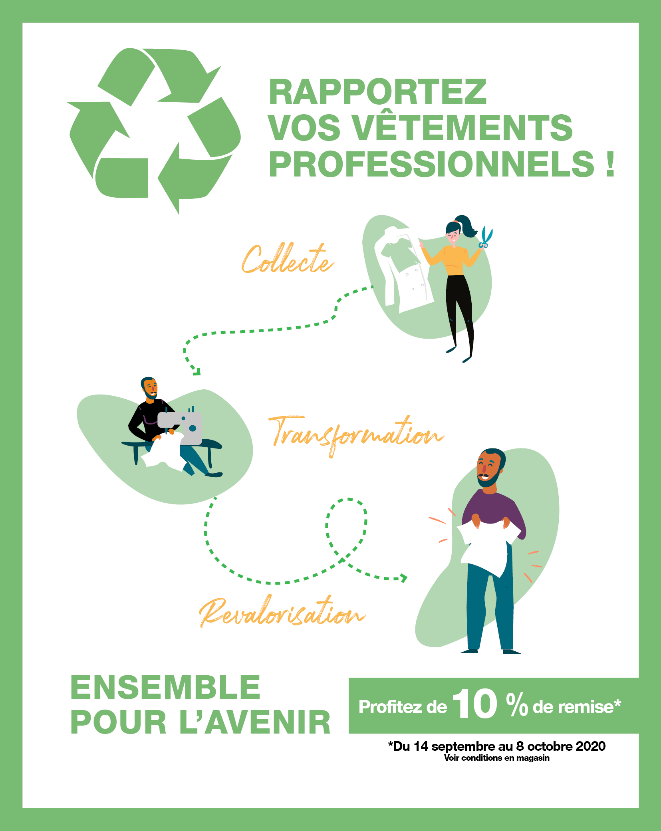 Bragard recycle vêtements professionnels