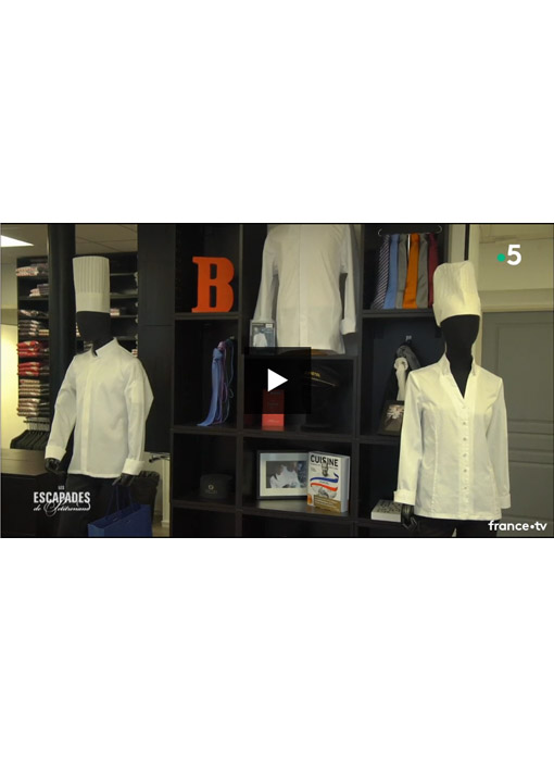 Retrouvez Bragard depuis notre nouvelle boutique de Paris dans le reportage Les Escapades de Petit Renaud